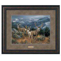 The Last Glance-Framed Mule Deer Print