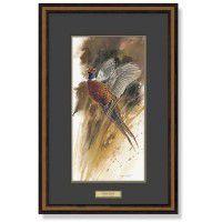 Flushed- Pheasants Framed Print