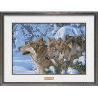 Winter's Warmth Framed Wolf Print