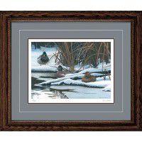 Winter Hideaway - Mallards Framed Print