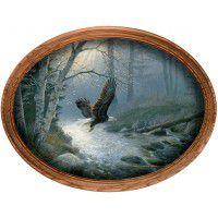 Bald Eagle Framed Oval Canvas