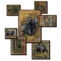 Black Bear Collage Wall Art