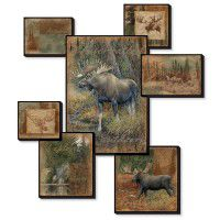 Moose Collage Wall Art