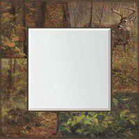 Whitetail Deer Scenic Mirror