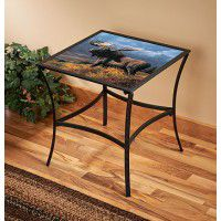 Copper Moose Accent Table