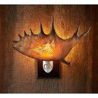 Antler Night Light - Pinecone
