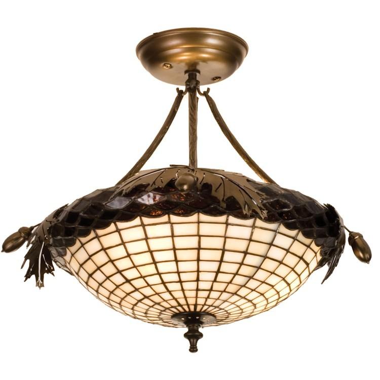 Ceiling Light With Oak : Greenbriar oak semi flushmount ceiling light