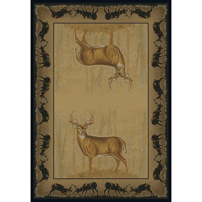 Game Area Rugs: Believe Deer Rugs