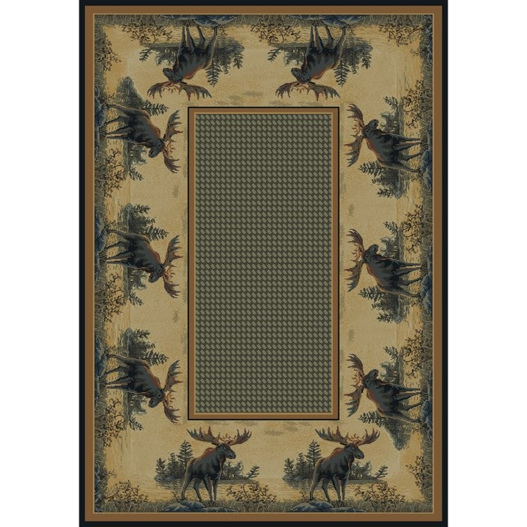 Game Area Rugs: Northwood Moose Rug Collection