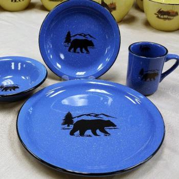Rustic Dinnerware & Rustic Dinnerware Bear Dinnerware Wildlife Glassware u0026 Antler ...