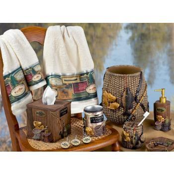 Rustic Bath Accessories Cabin Bathroom Decor Bear Decor