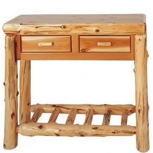Log Sofa table with 2 drawers