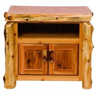 Cedar Log Television Stand