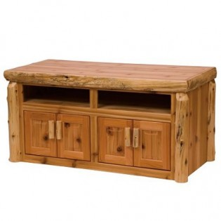 Widescreen Log TV Stand