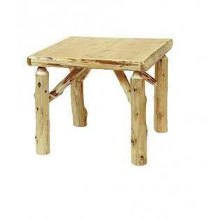 Cedar Log Square Table
