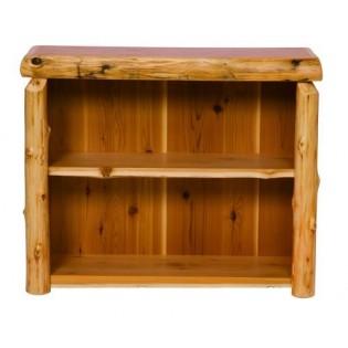 Small Cedar Log Bookshelf
