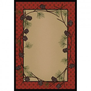 Delicate Pines Rug 5x8