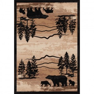 Mountain Shadow Bear Rug 4x5