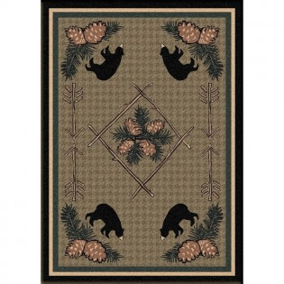 Pine Cone Bears Rug from The Cabin Place!