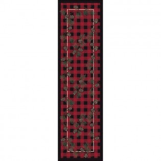 Red Wooded Pines Runner