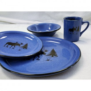 Moose Silhouette Dinnerware Set