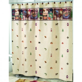 Camping Trip Rustic Shower Curtain