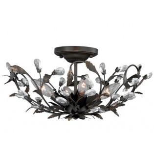 Crystal Trellis Ceiling Light