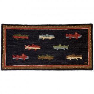 River Fish Rug-2x4