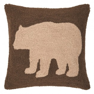 Brown Bear Hooked Pillow