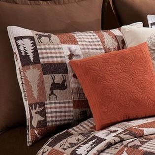 Deer Hunter Quilted Pillow Sham