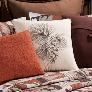 High Definition Pinecone Pillow