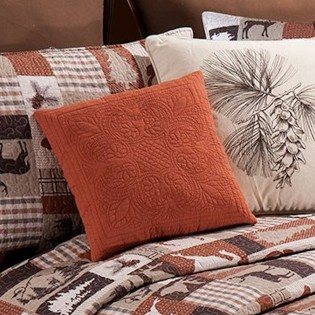 Quilted Terracotta Pillow