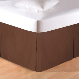 Brown Tailored Bedskirt - King