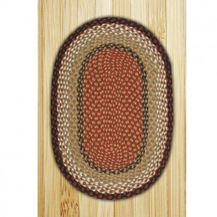 Burgundy/Mustard Oval Braided Rugs