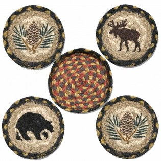 Wilderness Coasters in a Basket