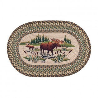 Moose Wading Jute Rug