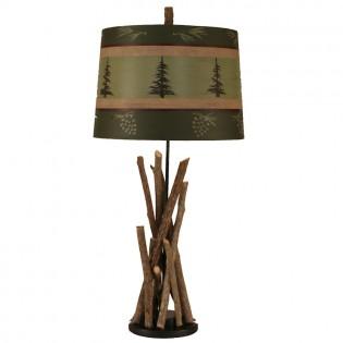 Bundle of Sticks Pine Tree Table Lamp