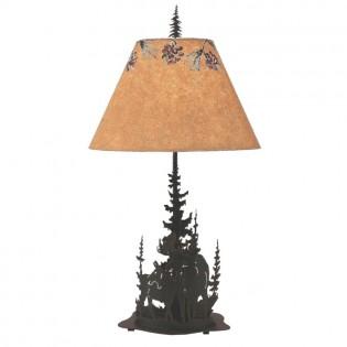 Wilderness Moose Table Lamp