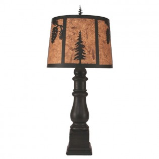 Fir Tree and Pine Table Lamp