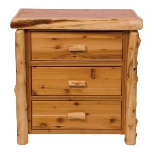 Cedar Log 3 Drawer Chest