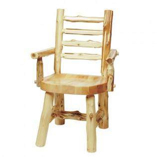 Log Ladder Back Arm Chair