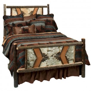 Hickory Adirondack Traditional Queen Bed
