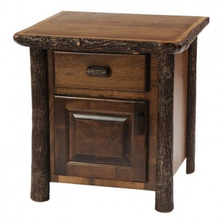 Enclosed Hickory Nightstand