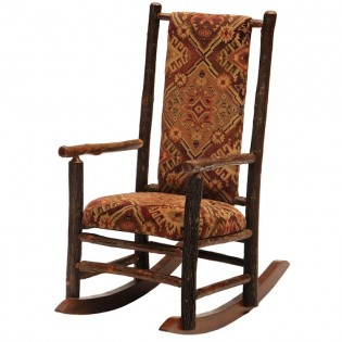 Upholstered Hickory Rocking Chair
