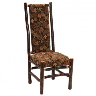 Hickory High Back Upholstered Side Chair