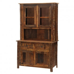Barnwood Hutch with Hickory Legs