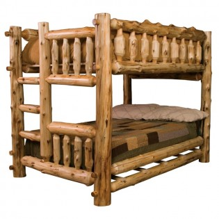 Double/Double Log Bunk Bed