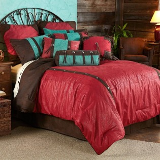 Red Cheyenne Comforter Set