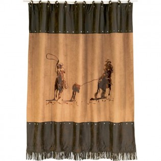 Designer Shower Curtains: cowboy shower curtain