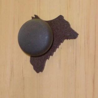 Bear Knob-Rust Powder Coat